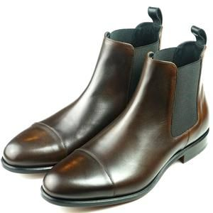 Chelsea Boot Cap Toe Dark Brown & Black Calf | Chelsea