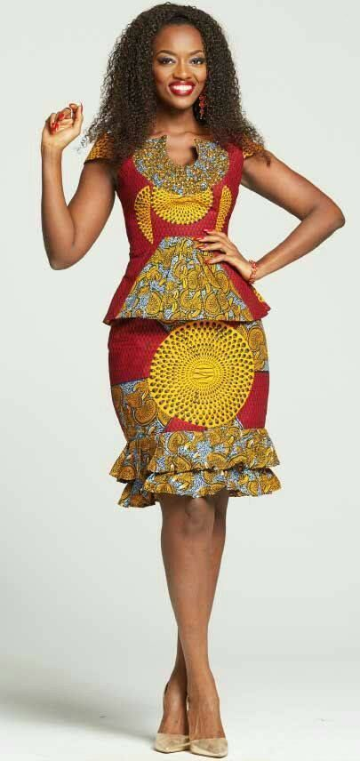 608454cce9 Beautiful Ankara Skirt And Blouse Styles 2018 | Afrikan Traditional ...