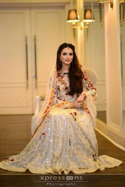 Latest Bridal Lehenga Designs 2017 | Pakistani Bridal Lehenga | PK Vogue  Something in this style with that embroidery, but maybe a little simpler would be nice as a Nikka dress