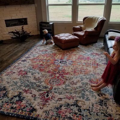Hillsby Orange Navy Area Rug Area Rugs Ideas Of Area Rugs
