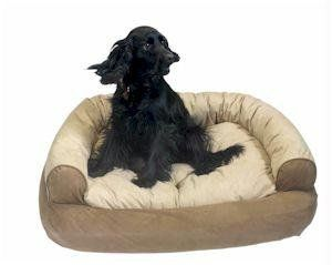 Snoozer Overstuffed Luxury Pet Sofa X Large Peat Stuffed With High Loft Polyester Fill For Added Comfort Machine Wash And Dry