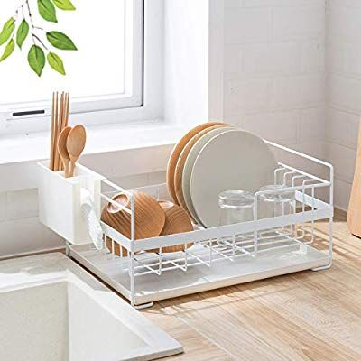 Amazon Com Sunficon Dish Drainer Kitchen Drying Dish Rack With