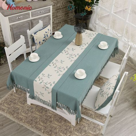 Tassel Linen Tablecloth High Quality Japan Style Embroidery Cotton Linen Dinner Table Cloth For Restaurant Wash Dining Table Cloth Table Cloth Linen Tablecloth
