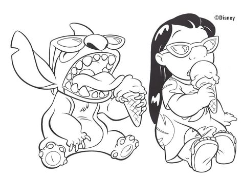 Dessin Lilo Et Stitch A Imprimer 24996 Lilo Et Stitch Coloriage