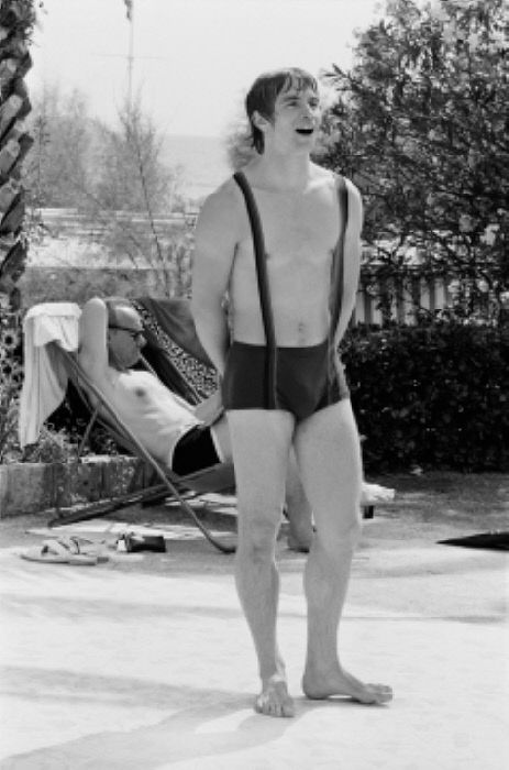 Dancer And Choreographer Rudolf Nureev At Swimming Pool In The