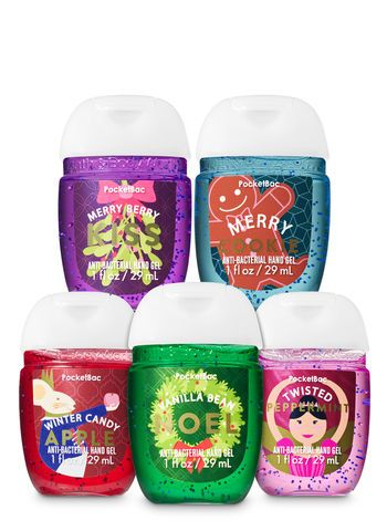 Holiday Favorites Pocketbac Hand Sanitizers 5 Pack Bath And