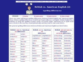British Vs American Spelling Differences Since I Have To Learn