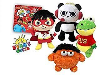 Ryan S World Ryan Plush Figure Red Titan Combo Panda Moe Monster Gus Gator Toy Gift Set Of 4 Ryan Toys Toys Gift Blind Bags