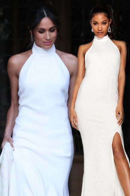 Meghan Markle Second Wedding Dress Boohoo Sell Replica Of Duchess Of Sussex S Stella Mccartney Gown Worn To Her And Prince Harry S Reception For Just 22 Dresses Second Wedding Dresses Wedding Dresses