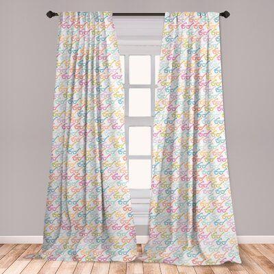 East Urban Home Indie Room Darkening Rod Pocket Curtain Panels Wayfair Rod Pocket Curtain Panels Floral Room Window Treatments Living Room
