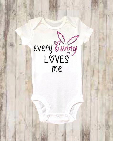 f5686346e Baby Onesie ®, Easter Onesie ®, Every Bunny Loves Me, Bunny Onesie ®