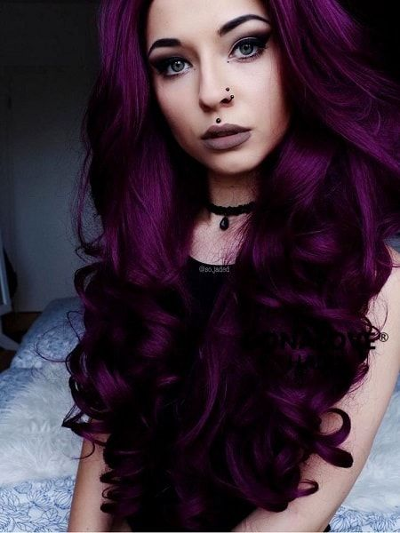 60 Beautiful Blue And Purple Hair Color Ideas Hairstylecamp Wild Hair Color Short Dyed Hair Hair Color Purple