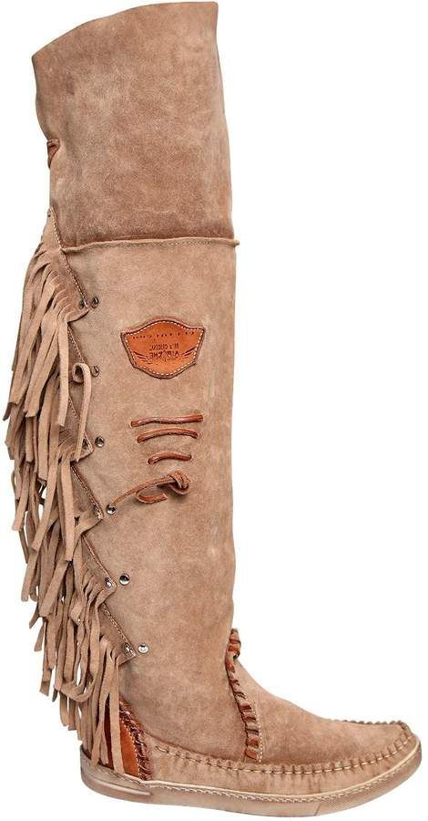 f76a90cca8d 20mm Fringed Over The Knee Suede Boots | my cowgirl closet clothes i ...