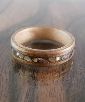 Wood ring ViaLuckyMagazine 50 Unique Engagement Rings For The