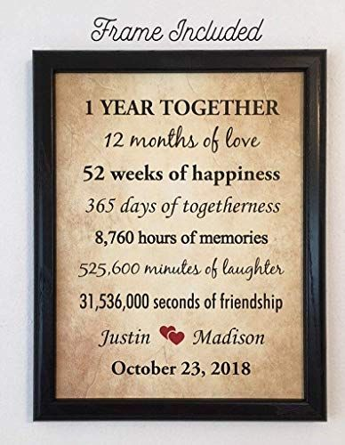 New Framed 1st Anniversary Gifts Couple 1 Year Anniversary Gifts Him G 1 Year Anniversary Gifts 15th Wedding Anniversary Gift 13th Wedding Anniversary Gift