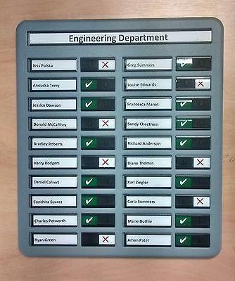 In Out Board Fire Drill Board Muster Board 20 Names Ebay Fire Drill Drill Attendance Board