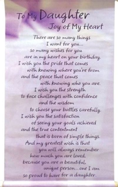 Birthday Poem For Daughter : birthday, daughter, Printable, Happy, Birthday, Download, Wishes, Daughter,, Quotes, Daughter, Poems