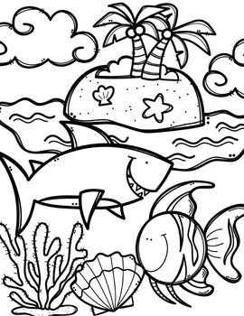 Preschool Free Ocean Animals Coloring Book Made By Creative Clips