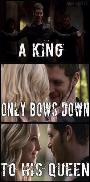 Klaroline A king only bows down to his queen