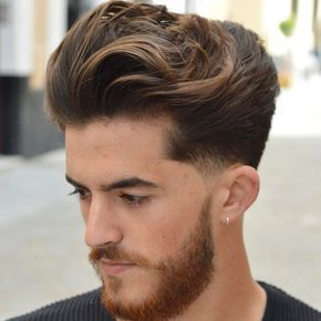 Long Brushed Back Hair Low Fade Cool Men S Hairstyles In