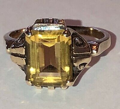 Ad Ebay Link Striking Circa 1920 30 Vintage Citrine 10 Karat Gold Ring In 2020 Vintage Gold Rings Sterling Silver Pinky Ring White Gold Sapphire