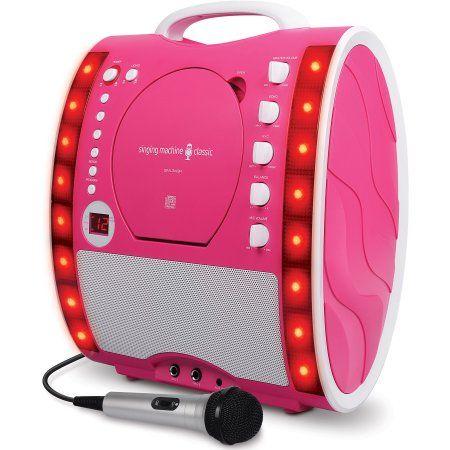 Singing Machine Singing Machine Sml283Pnk Portable Plug-N-Play Karaoke Cdg Player Mit Extra Bonus CdS Pink
