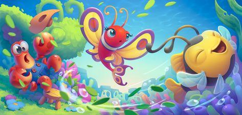 Fishdom illustrations