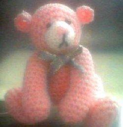 free thread crochet bear pattern. Finished size 2.5 inches by Edith Molina