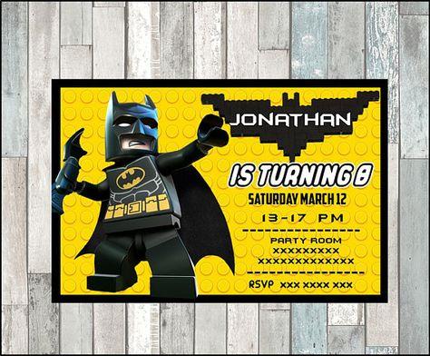 50off Lego Batman Invitation Lego Batman Invitations Lego