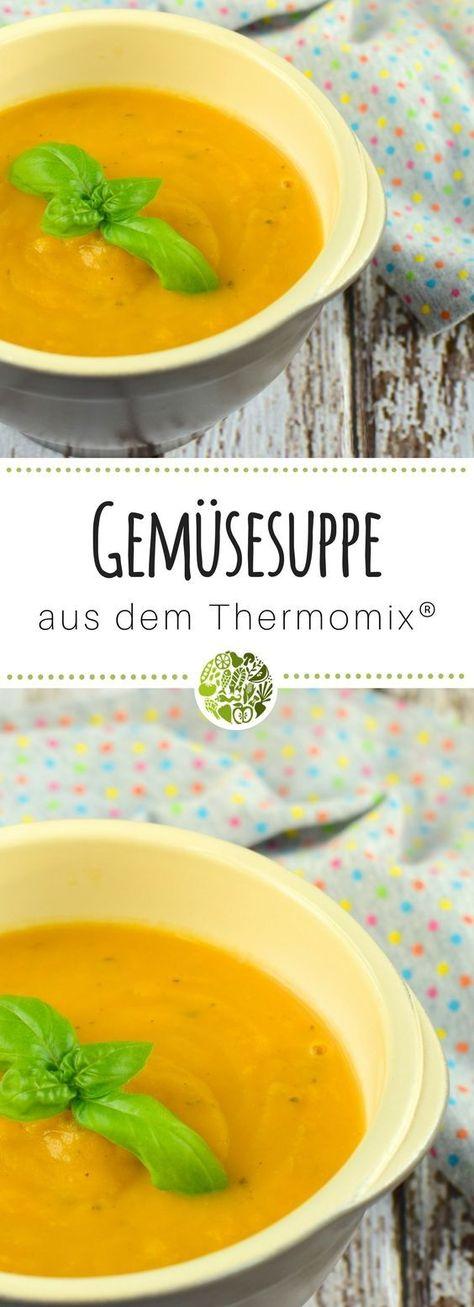 Mixe unsere einfache Gemüsesuppe dem Thermomix®️️️ noch heute nach! Das Rezept ist für TM5®️️️ und TM31 geeignet. Mehr Rezepte gibt es im will-mixen.de Blog! #willmixen #thermomix