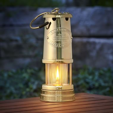 The Sir Davy S Welsh Miner S Lamp Hammacher Schlemmer Lamp Lamp Bases Hearth And Home
