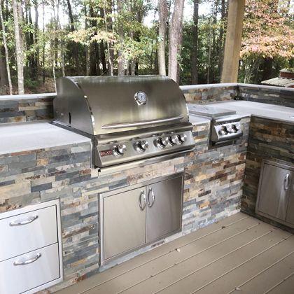 Featured Outdoor Kitchen L Texas Dream Garden Bbq Guys Outdoor Kitchen Outdoor Kitchen Decor Dream Garden