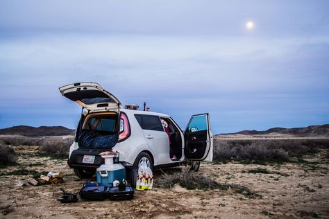 Car Camping How To Turn Your Kia Into A Bed On Wheels Suv Camper Kia Soul Colorado Springs Camping