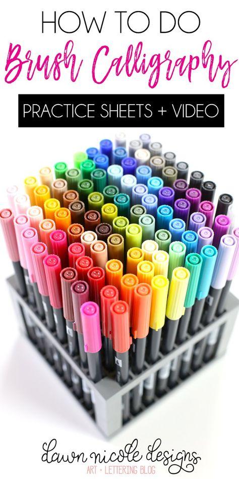 Diy Einfache Watercolor Blatter Mit Brush Pens Und