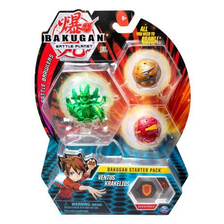 Bakugan Darkus Trox 2-inch Tall Collectible Transforming Creature for Ages 6 and Up