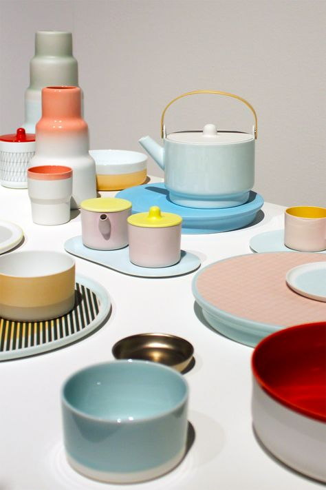 Colour Porcelain by Scholten and Baijings at the Stedelijk Museum Den Bosch /// More on Interiorator.com