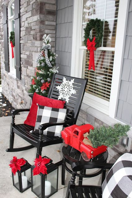 Christmas On The Outside Merry Bright Front Porch Christmas Decor Christmas Porch Decor Christmas Decor Diy