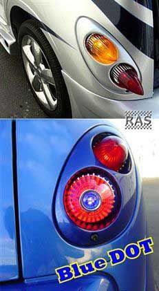 Pt Cruiser Blue Dot Taillights Accessories Chevy Hhr Boards Chrysler