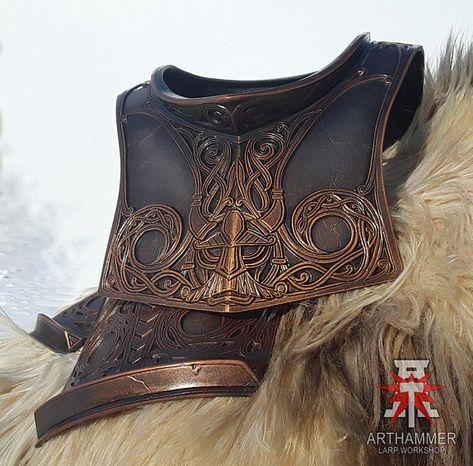 Dwarf gorget LARP Fantasy LOTR Dwarven armor