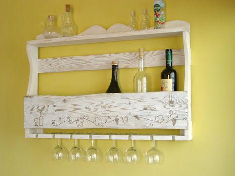 Pallet Wood Wine Rack, Rustic Home Decor