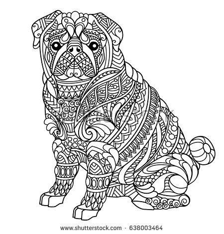 Pug Coloring Book For Adults Raskraski S Zhivotnymi Raskraski