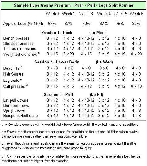 Hypertrophy weightlifting