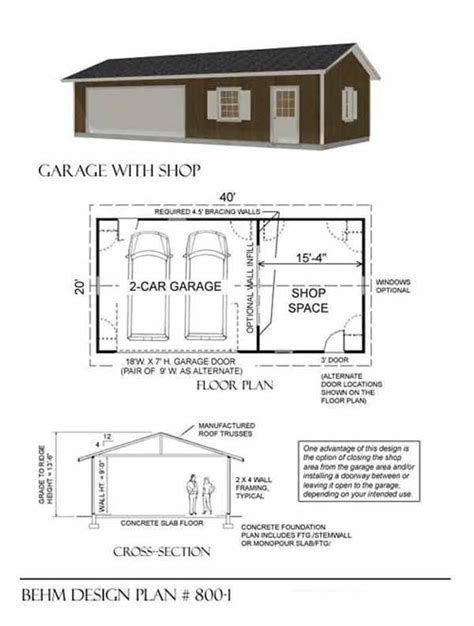 Image Result For Pdf Workshop Plans Layout Garage Floor Plans Garage Plans Garage Shop Plans