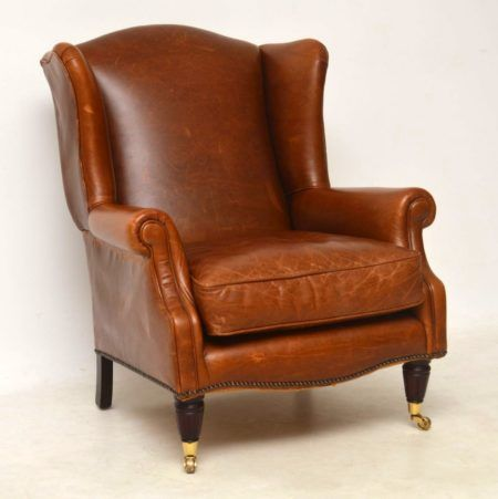 Southwold Wing Back Leather Armchair