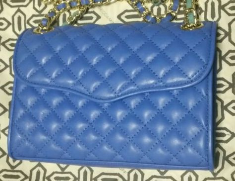 Rebecca Minkoff Quilted Mini Affair(Bright Blue) Price$195+tax-PERFECT leather