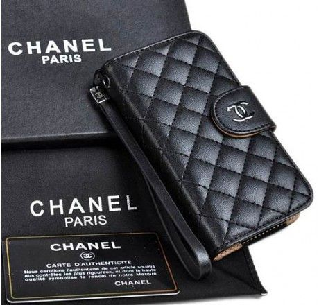 chanel iphone 7 plus case. new arrival real chanel iphone 6 cases - plus nappa leather black iphone 7 case l
