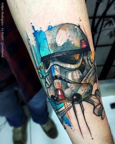 Por @rodferod   #Art #Artist #Inked #Tattoo #Tattooartist #Tattooed #StarWarsDay #StarWarsTattoo