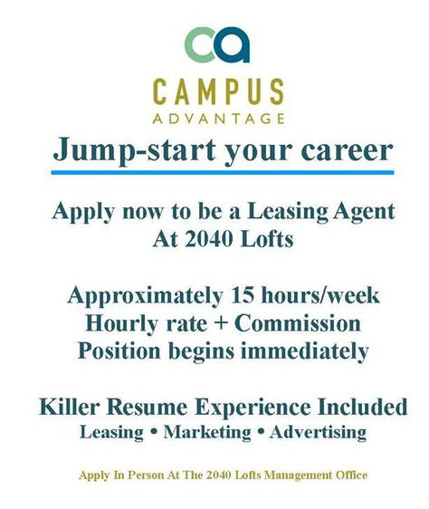 Working as a leasing agent is not only fun, but the experience - resume for leasing agent