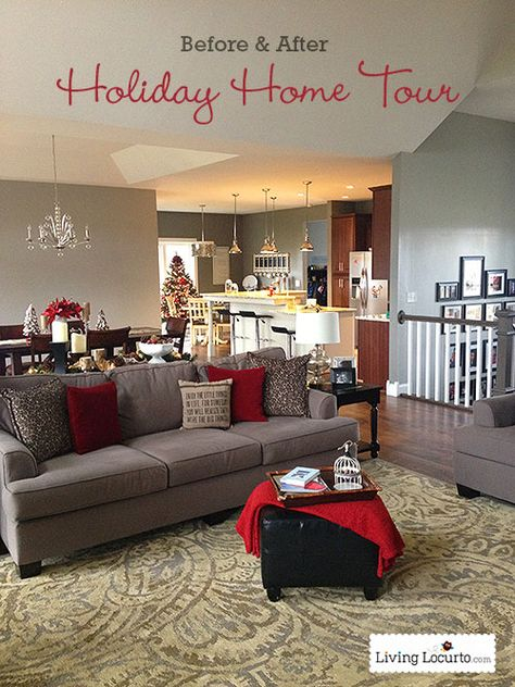 Beautiful DIY Holiday Home Tour. Before & After photos. LivingLocurto.com