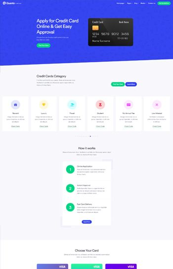 Quanto Creative Multi Purpose Responsive Html Template Credit Card Design Template Credit Card La Credit Card Website Credit Card App Credit Card Infographic